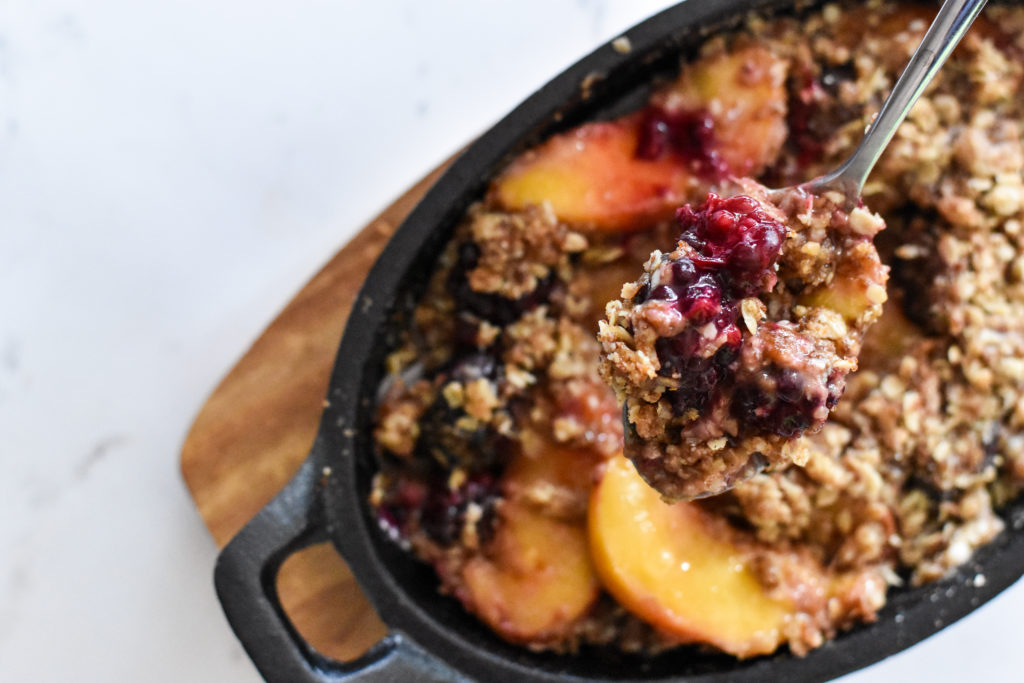 t know why but they are magical too I dearest them peach blackberry crisp for two