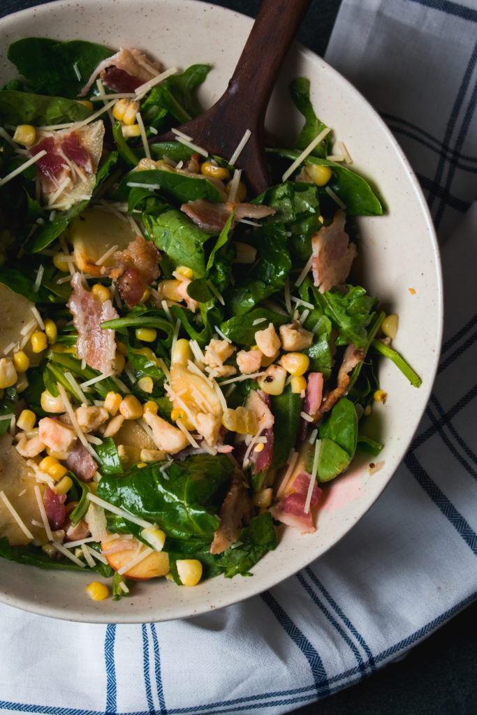 I simply constitute Grant eating this conduct out of the refrigerator bacon, arugula, in addition to parmesan salad