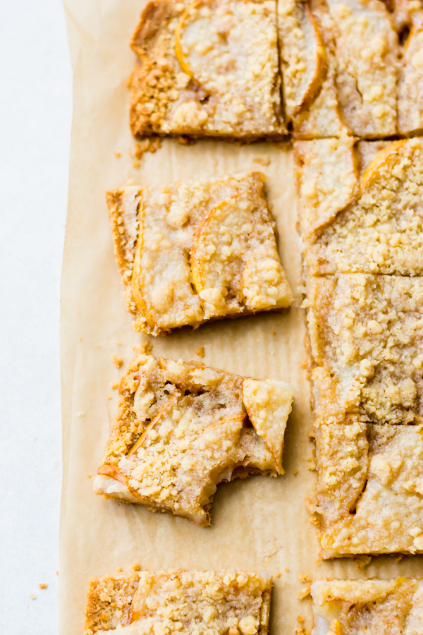 Insanely Good Pear Crumble Bars Blue Bowl